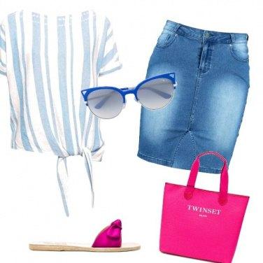 Outfit Comodo rosa schoking