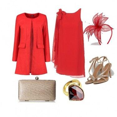 Outfit CMPS In rosso per la sposa