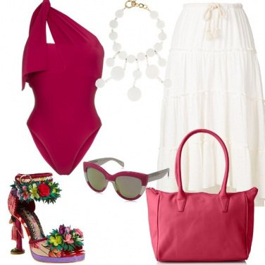 Outfit Glamour in spiaggia