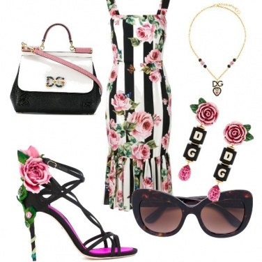 Outfit D&G roses Fever