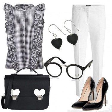 Outfit Black & White - in ufficio