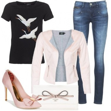 Outfit La giacca in simil cuoio