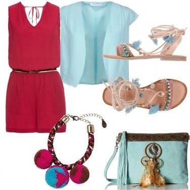 Outfit Magenta e turchese