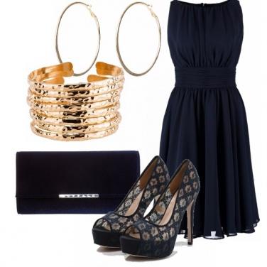 Outfit Elegante blu