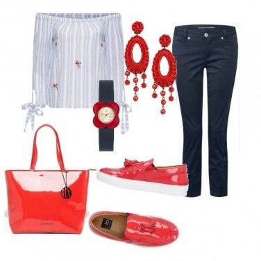 Outfit Pomeriggio rosso-blu