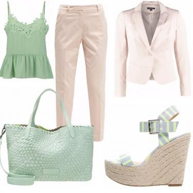 Outfit Menta & rosa cipria