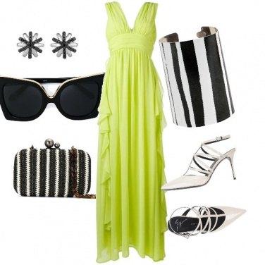 Outfit Cerimonia in verde mela