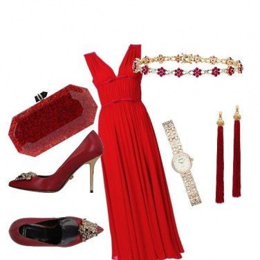 Outfit Matrimonio in red