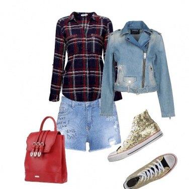 Outfit Jeans e quadri