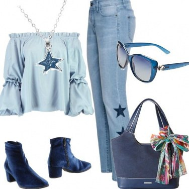 Outfit Blu stars