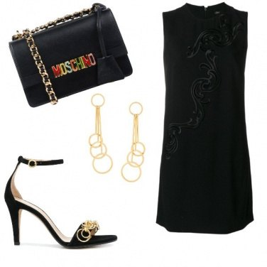 Outfit Nero e oro