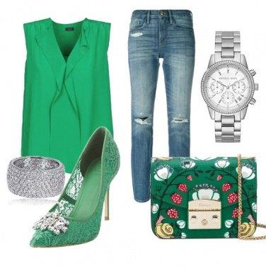 Outfit Borsa Furla e scarpa verde Must Have