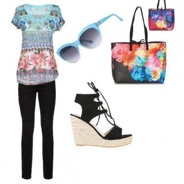 Outfit Colori floreali