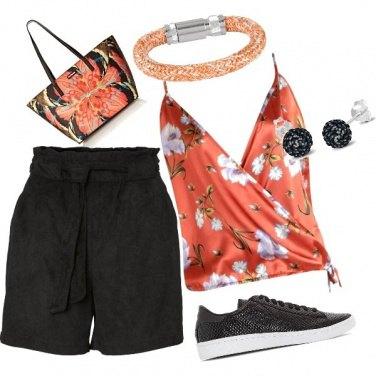 Outfit Converse e shorts