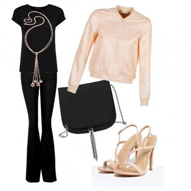 Outfit Black&beige