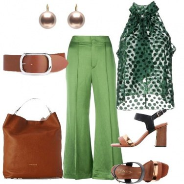 Outfit Cuoio sul verde