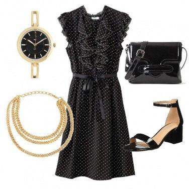 Outfit Nero e oro per la festa della scuola