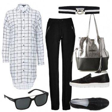 Outfit Primavera col bianco e nero