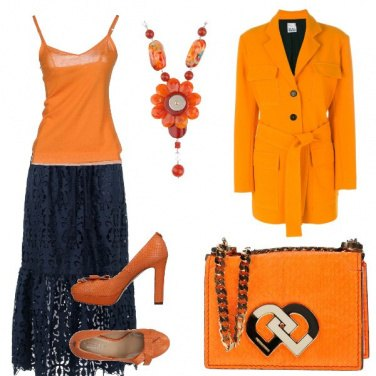 Outfit Blue e orange