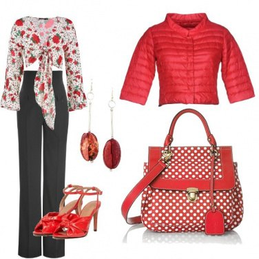 Outfit Pois e fiori
