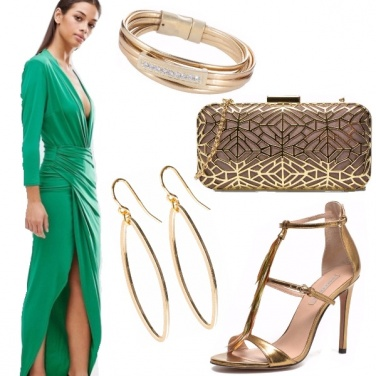 Outfit Emerald & gold