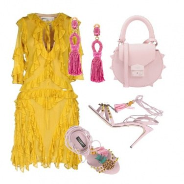 Outfit Soft pink, explosive yellow