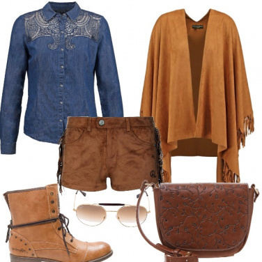 Outfit Jeans & camoscio