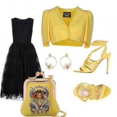 Outfit Cerimonia in giallo