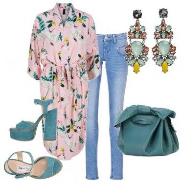 Outfit Jeans e kimono