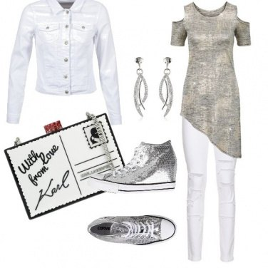 Outfit Silver converse
