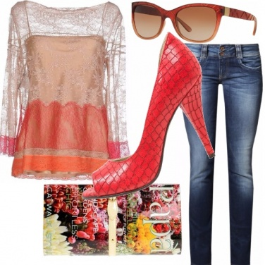 Outfit Rosso e chic