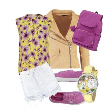 Outfit Basic Violet