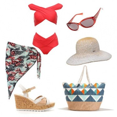 Outfit Rosso solare