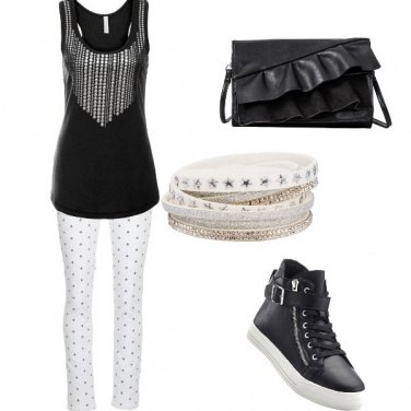 Outfit Stelline e pois