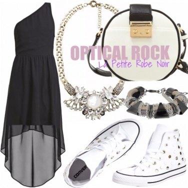 Outfit OPTICAL ROCK - LA PETITE ROBE NOIR