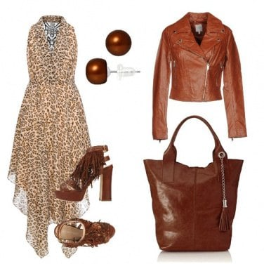 Outfit Brown e animalier