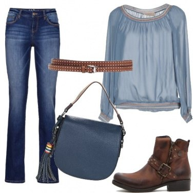 Outfit Jeans e camicia