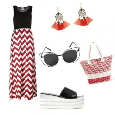 Outfit Rosso d\'estate