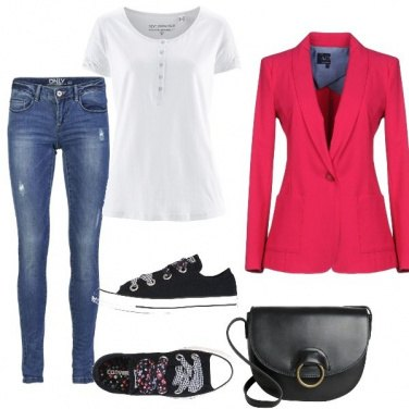 Outfit La giacca Fucsia
