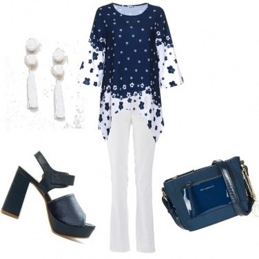 Outfit \'70... in bianco e blu