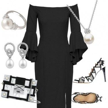 Outfit Bianco su nero
