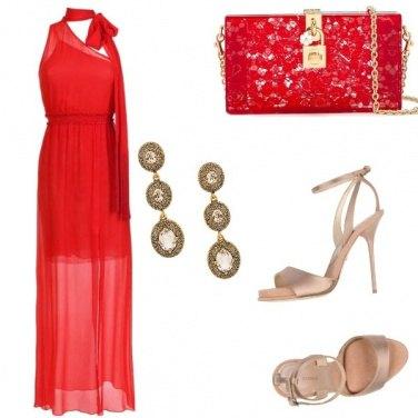 Outfit Rosso e trasparenze