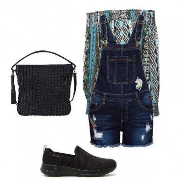 Outfit Salopette in denim