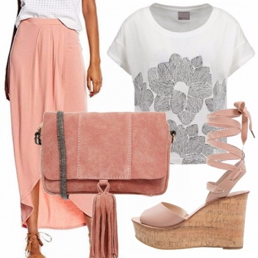 Outfit In rosa pesca