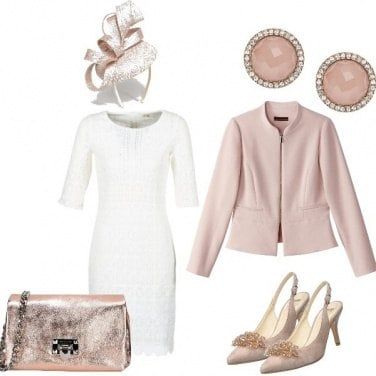 Outfit Raffinata in rosa