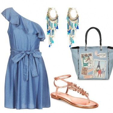 Outfit Abito in denim