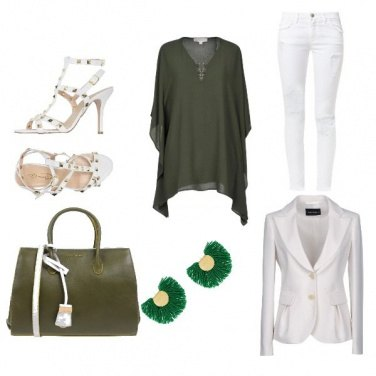 Outfit Green and white