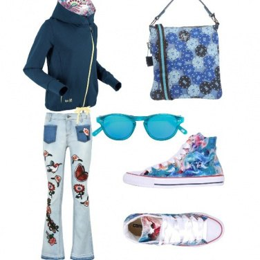 Outfit Floreale casual