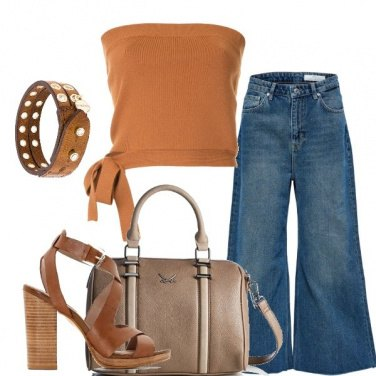Outfit Jeans a palazzo