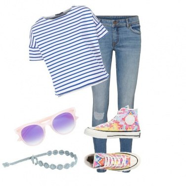 Outfit Converse colorate